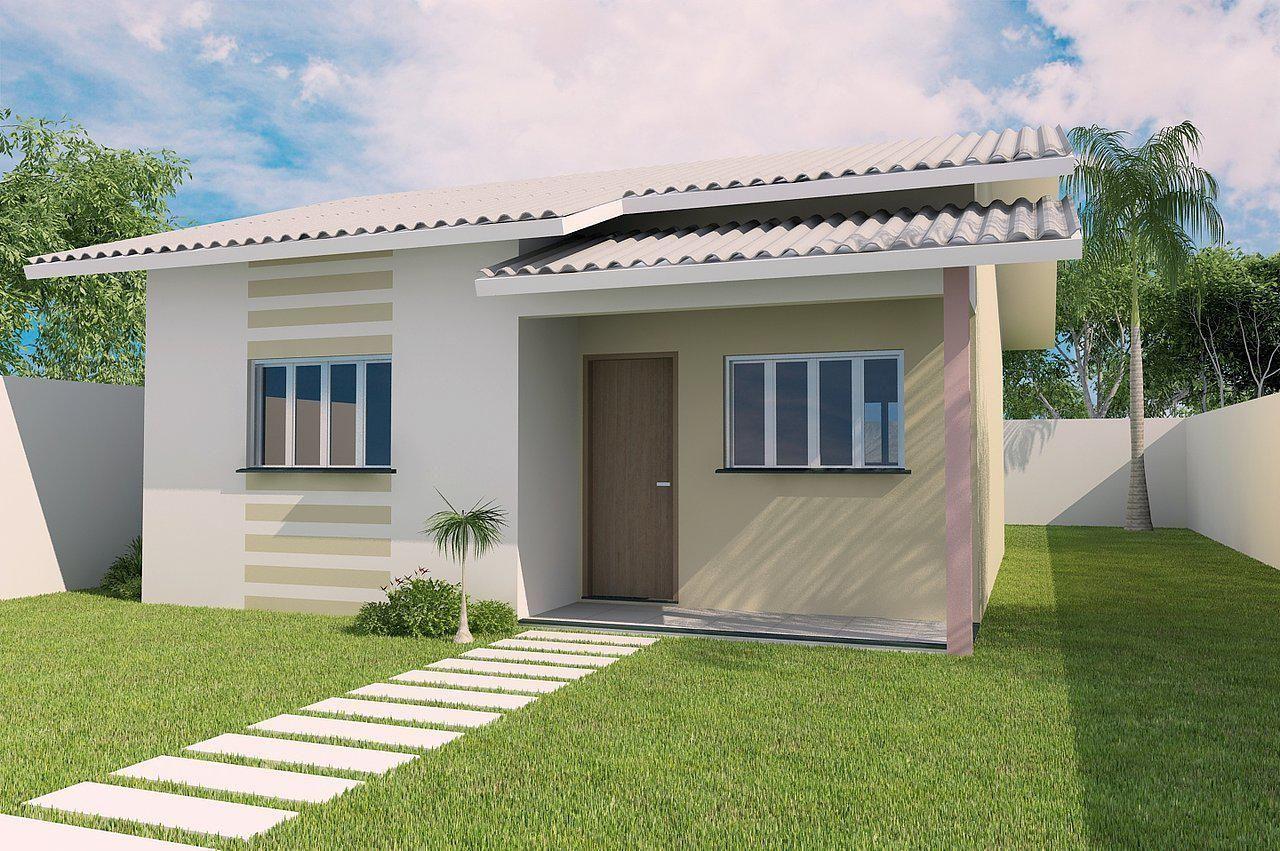 Projeto completo de casa popular 41 16m 2 quartos for Planos de casas lindas