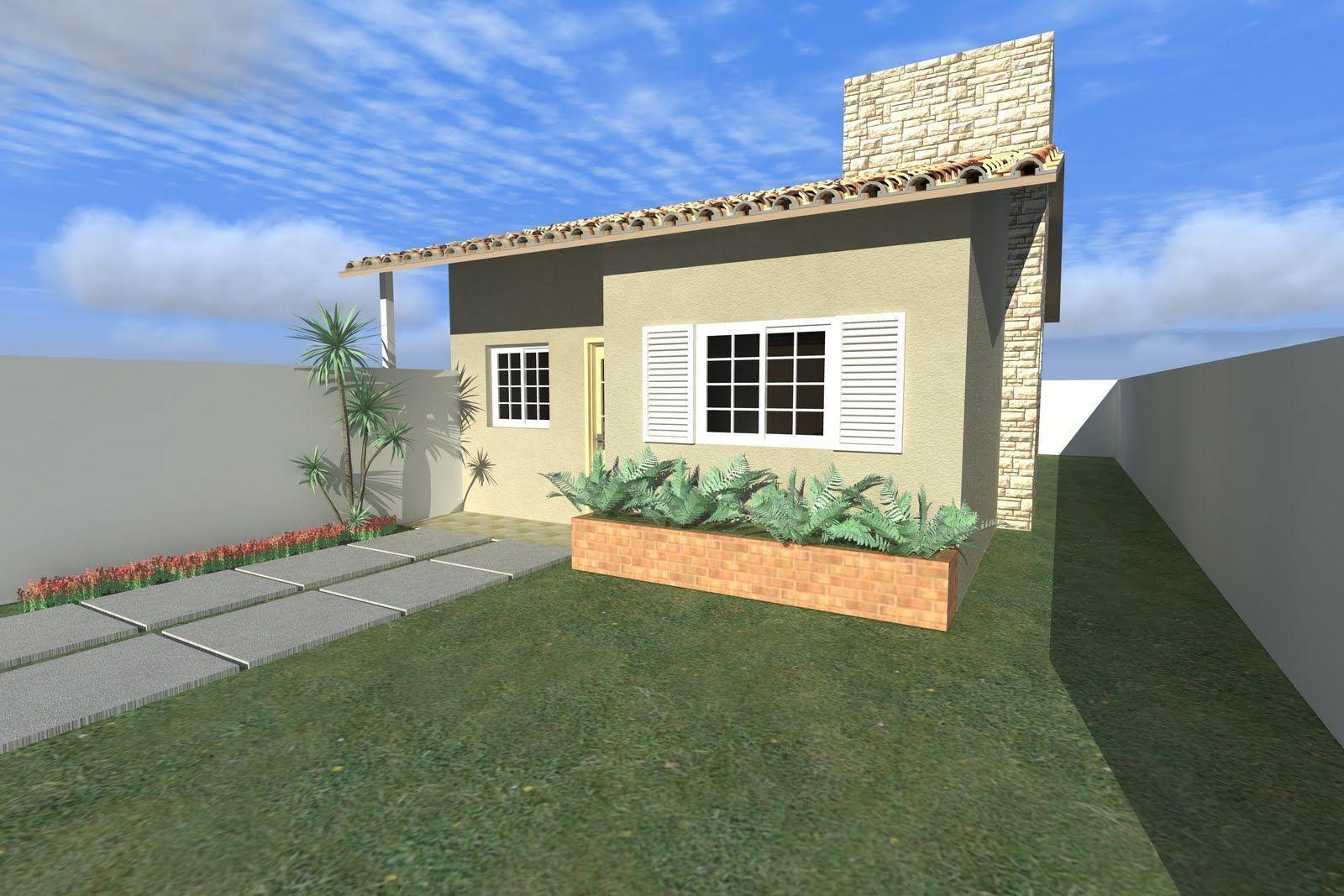 Baixe o projeto de uma casa com 2 quartos 52 25m for Ver frentes de casas