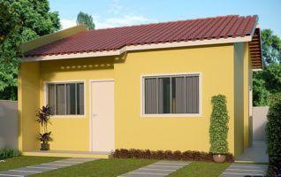 Projeto Completo de Casa Popular com 02 quartos (42m²)