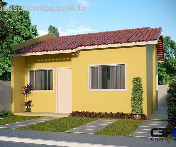 Projeto completo de casa popular com 02 quartos 42m for Casa popular