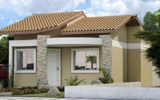 Planta Baixa de Casas para download com 02 quartos (42m2)