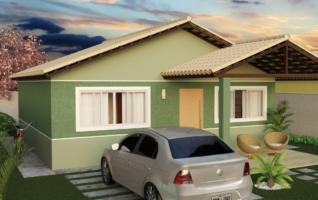 Planta Baixa de Casas para download com 02 quartos (39m2)