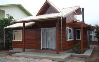 Projeto Completo de Casa de Madeira com 02 quartos (36m2)