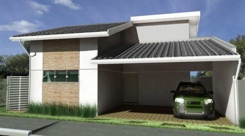 Projeto Completo de Casa Plana Térrea (145m2 – 2 quartos) para download