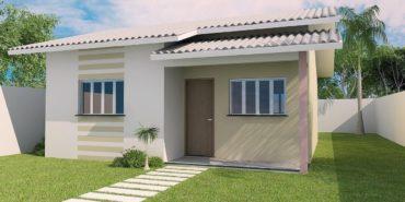 Projeto Completo de Casa Popular (41,16m² - 2 quartos) para download